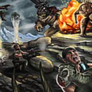 Gears Of War Battle Art Print