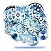 Gears Wheels Design  Art Print
