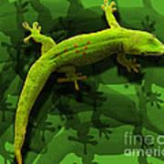 Gecko-gecko-gecko Art Print