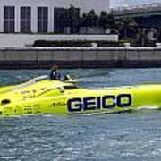 Geico Race Boat Art Print