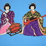 Geisha Serenade Art Print