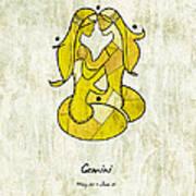 Gemini Artwork Art Print