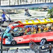 Genoa Sightseeing City Bus Art Print