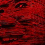 Gentle Giant In Red Art Print