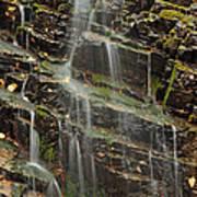 Gentle Waterfall In Glacier National Park Art Print