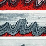 Geologic Crumpling Art Print