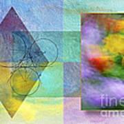 Geometric Blur Art Print