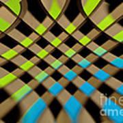 Geometrical Colors And Shapes 1 Art Print