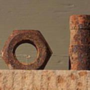 Geometry In Rust Art Print