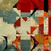 Geomix 04 - 39c3at227a Art Print