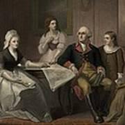 George And Martha Washington Sitting Art Print by Everett