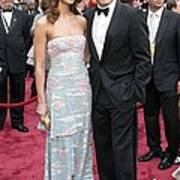 George Clooney, Sarah Larson Wearing Art Print by Everett