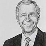 George W. Bush Art Print by Daniel Young