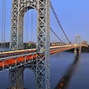 George Washington Bridge At Twilight Art Print
