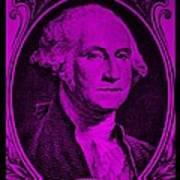 George Washington In Purple Art Print