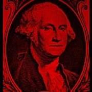 George Washington In Red Art Print