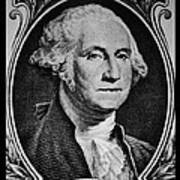 George Washington In White Art Print