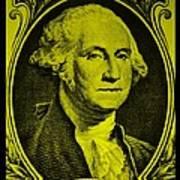 George Washington In Yellow Art Print