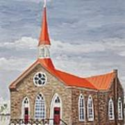 Georgetown Presbyterian Church Art Print by Reb Frost