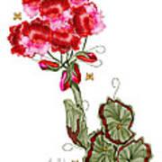 Geranium Sans Pot Art Print