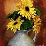 Gerber Yellow Daisies Art Print