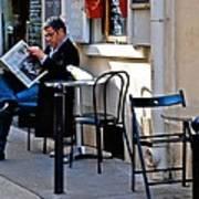 Getting The Morning News Art Print