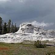 Geyser In Yellowstone Art Print