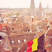 Ghent From Above Art Print