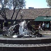Ghiradelli Square Mermaid Fountain Art Print