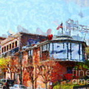 Ghirardelli Chocolate Factory San Francisco California . Painterly . 7d14093 Art Print
