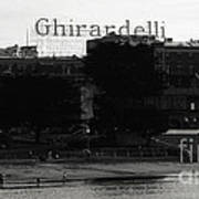 Ghirardelli Square In Black And White Art Print by Linda Woods