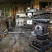 Ghost Town Stove Storage - Montana State Art Print
