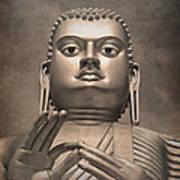 Giant Gold Buddha Vintage Print by Jane Rix