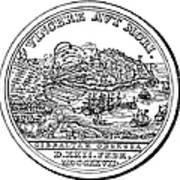Gibraltar: Medal, 1727 Art Print