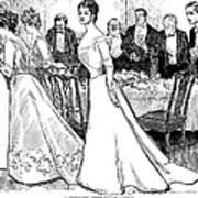 Gibson: After-dinner, 1899 Art Print