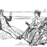 Gibson: Beach, 1900 Art Print