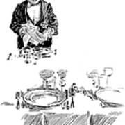 Gibson: Butler, 1900 Art Print