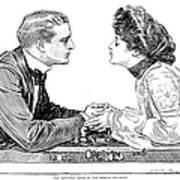 Chess Game, 1903 Art Print