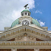 Giles County Courthouse Details Print by Kristin Elmquist