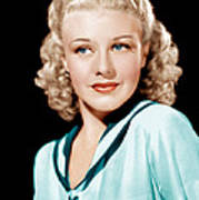 Ginger Rogers In Rko Publicity Art Print by Everett
