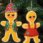 Gingerbread Couple Art Print