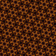 Gingerbread Stars Art Print