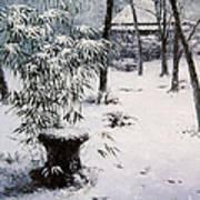 Gioji Temple In Snowing Art Print