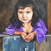 Girl From San Luis Art Print
