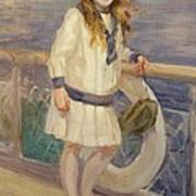 Girl In A Sailor Suit Art Print