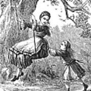 Girl On Swing, 1873 Art Print