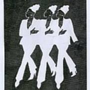 Girl Trio Art Print