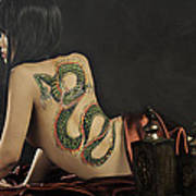 Girl With A Dragon Tattoo 4 Art Print