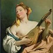 Girl With A Mandolin Art Print