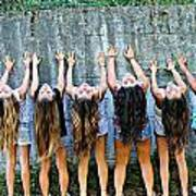 Girls And Long Hair Art Print by Jenny Senra Pampin